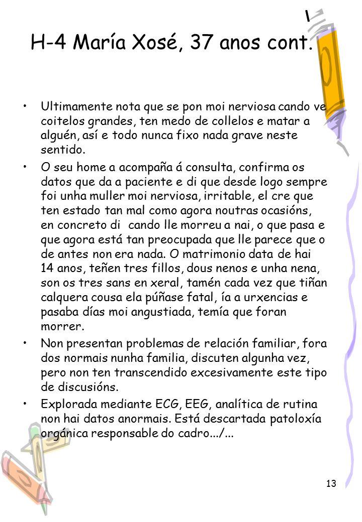 13 H-4 María Xosé, 37 anos cont.