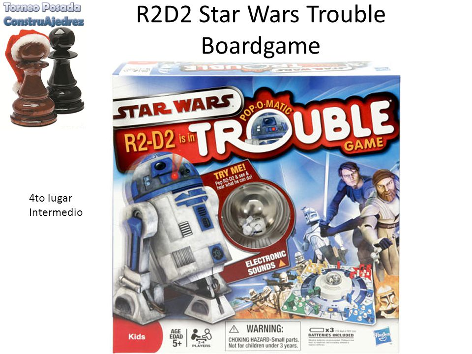 R2D2 Star Wars Trouble Boardgame 4to lugar Intermedio