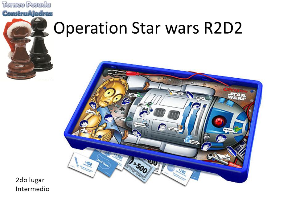 Operation Star wars R2D2 2do lugar Intermedio