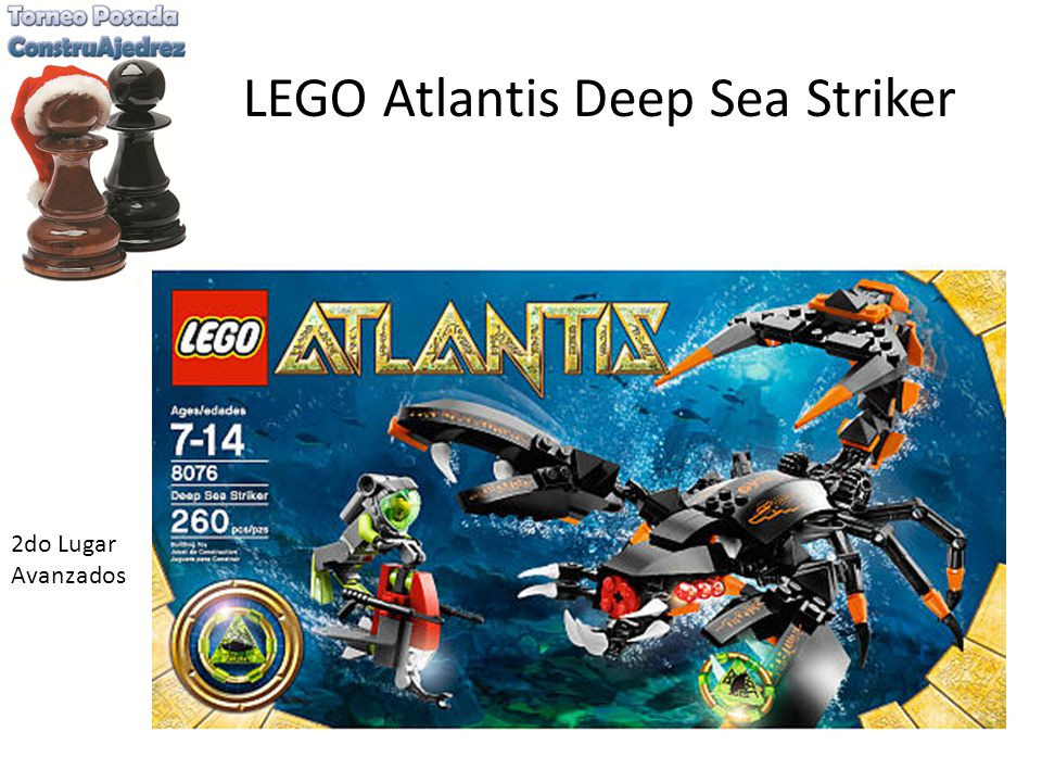LEGO Atlantis Deep Sea Striker 2do Lugar Avanzados