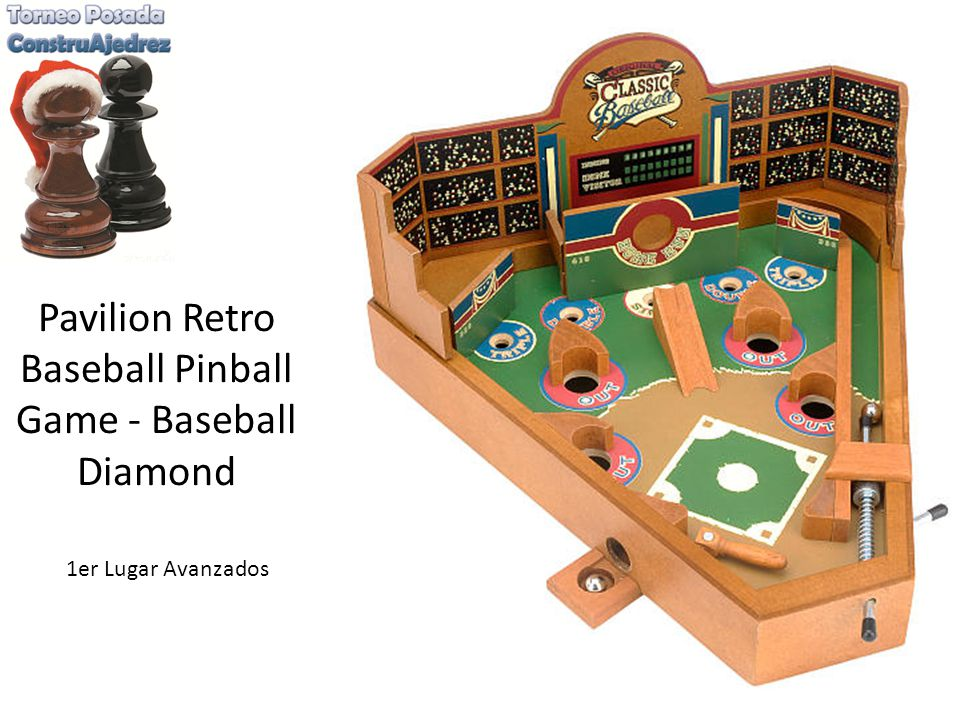 Pavilion Retro Baseball Pinball Game - Baseball Diamond 1er Lugar Avanzados
