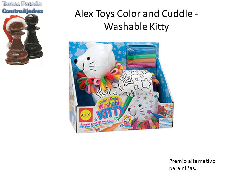 Alex Toys Color and Cuddle - Washable Kitty Premio alternativo para niñas.
