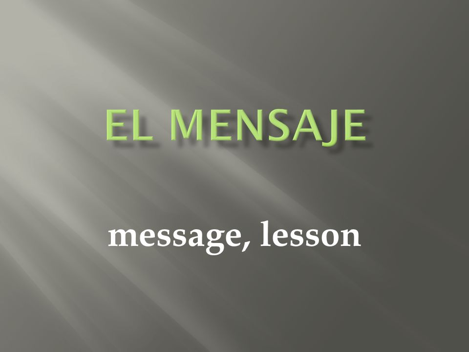 message, lesson