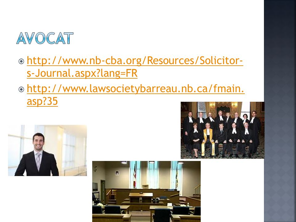  http://www.nb-cba.org/Resources/Solicitor- s-Journal.aspx?lang=FR http://www.nb-cba.org/Resources/Solicitor- s-Journal.aspx?lang=FR  http://www.law