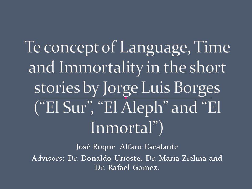 José Roque Alfaro Escalante Advisors: Dr. Donaldo Urioste, Dr. Maria Zielina and Dr. Rafael Gomez.