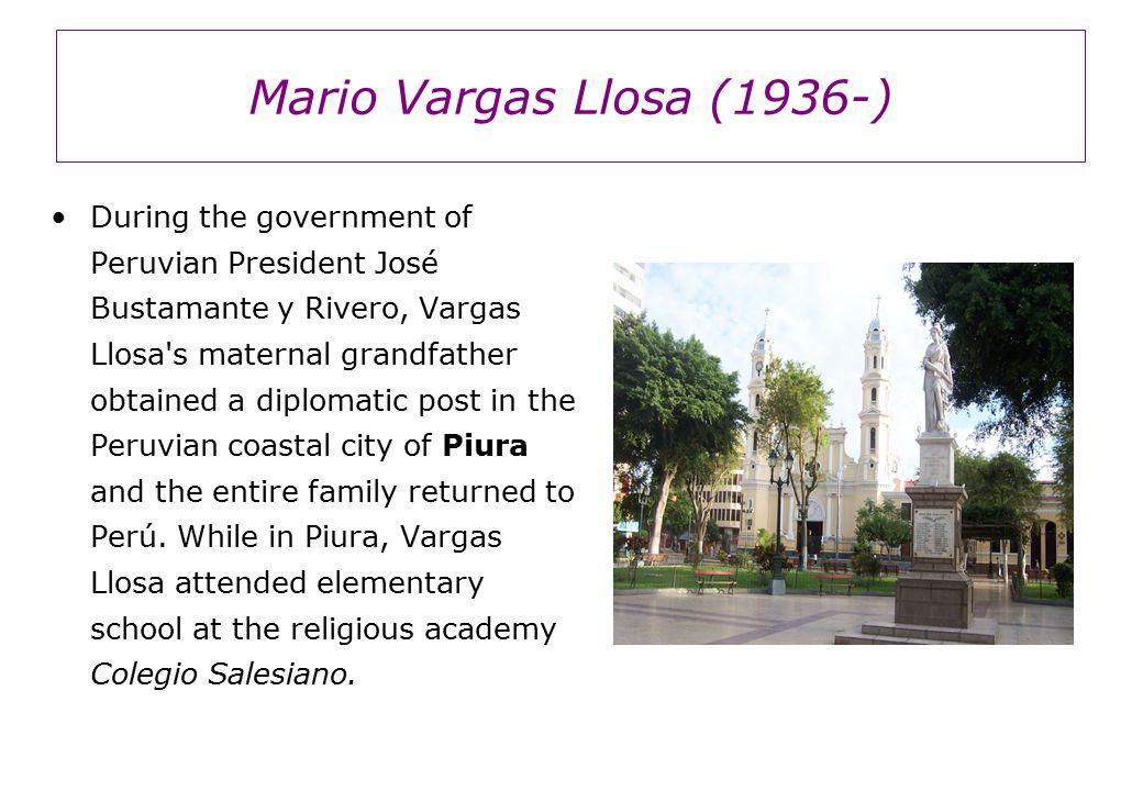 Mario Vargas Llosa (1936-) Three of his plays— La señorita de Tacna (1981; The Young Lady of Tacna), Kathie y el hipopótamo (1983; Kathie and the Hippopotamus), and La chunga (1986; The Jest ; Eng.