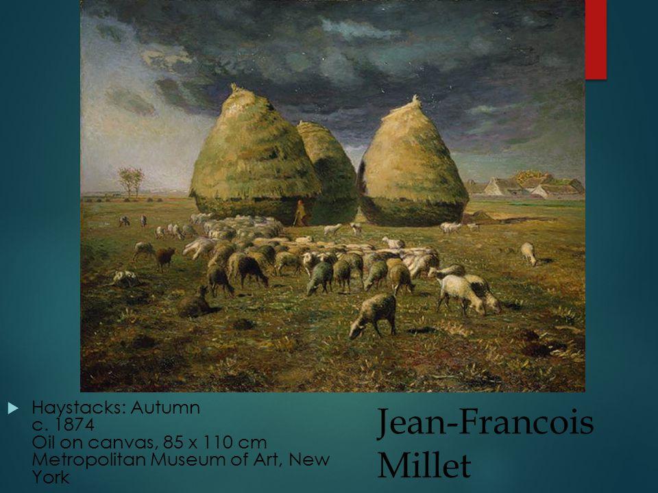 Jean-Francois Millet  Haystacks: Autumn c.