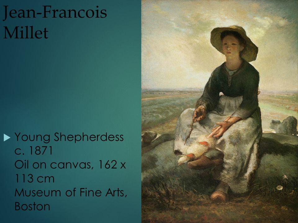 Jean-Francois Millet  Young Shepherdess c.