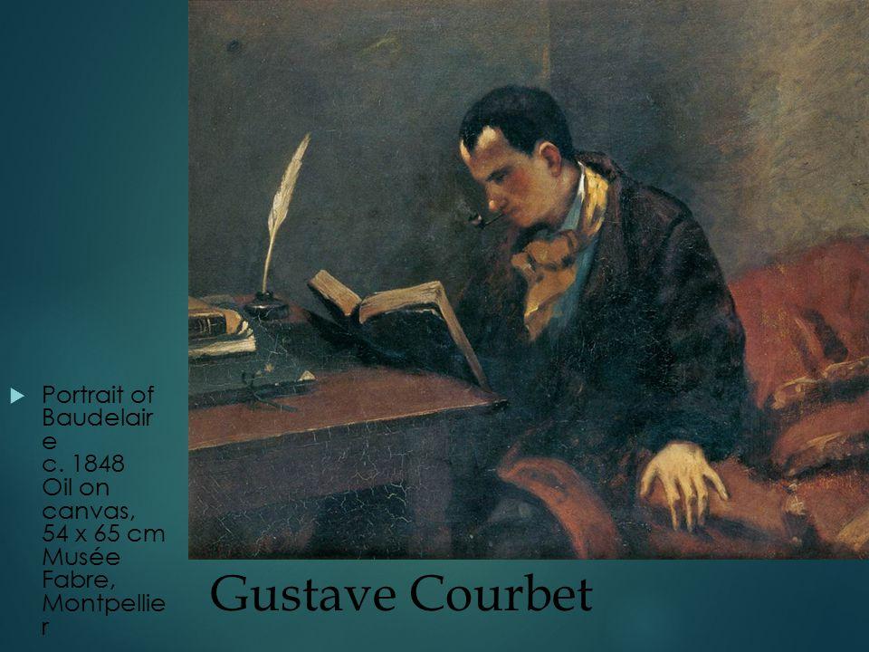Gustave Courbet  Portrait of Baudelair e c.