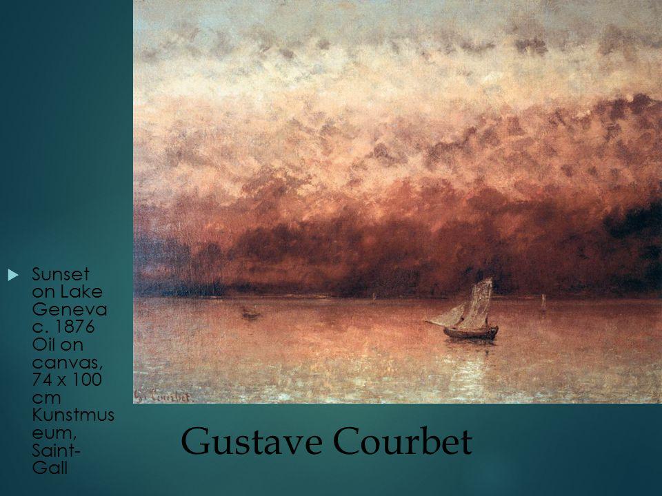 Gustave Courbet  Sunset on Lake Geneva c.