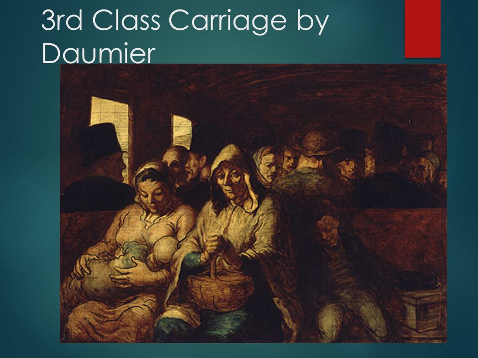3rd Class Carriage by Daumier