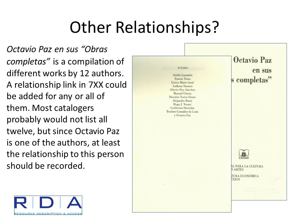 Other Relationships.