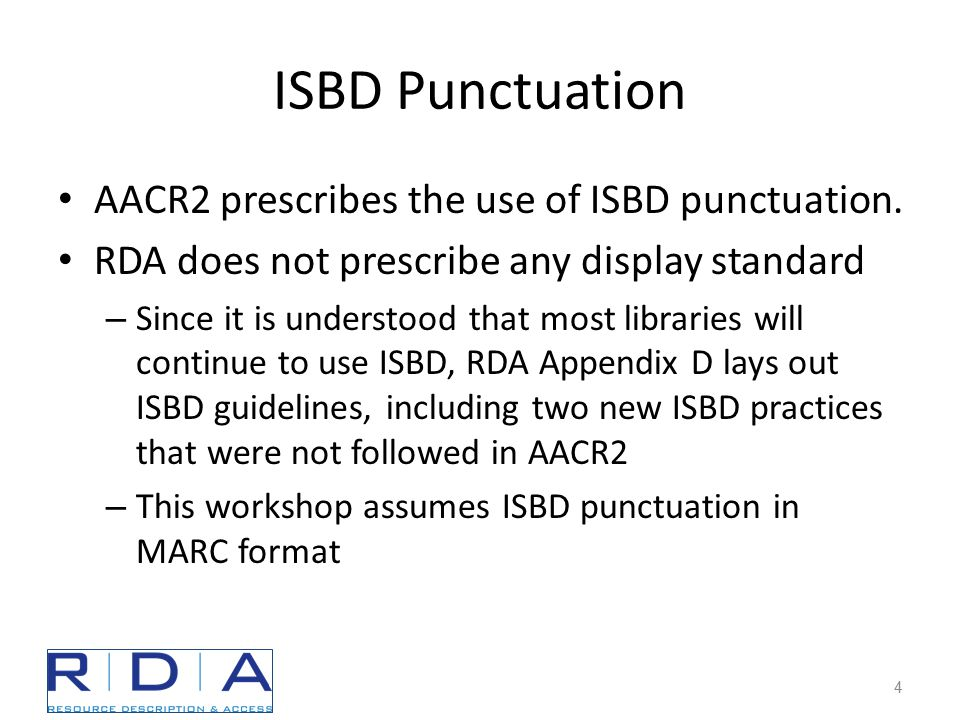 ISBD Change: Bracketing Each adjacent data element that requires square brackets is enclosed in its own set of square brackets.