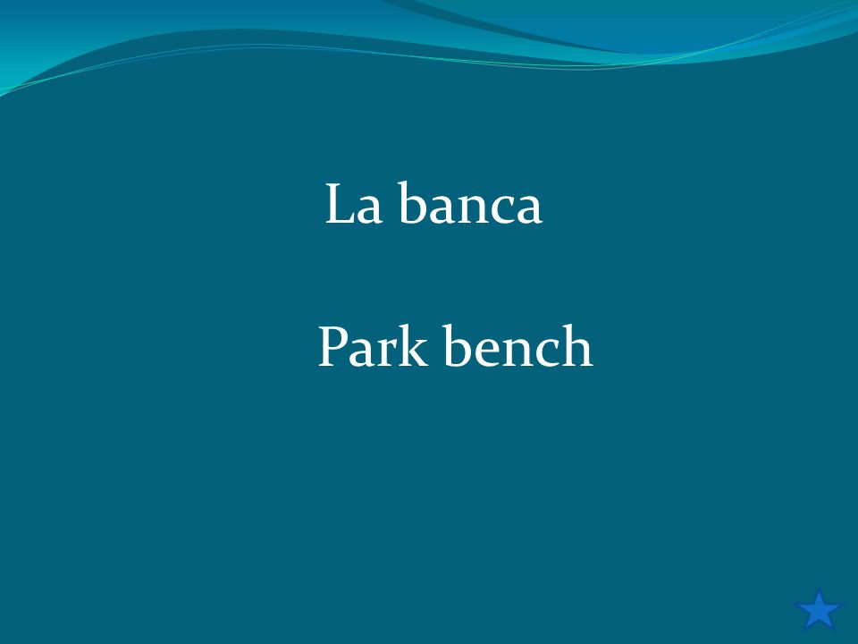 La banca Park bench