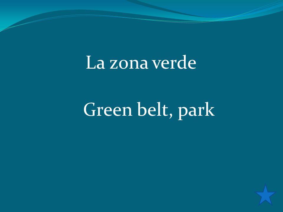 La zona verde Green belt, park