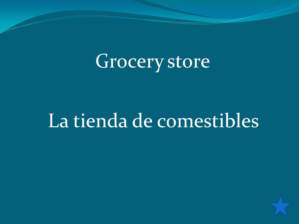 Grocery store La tienda de comestibles