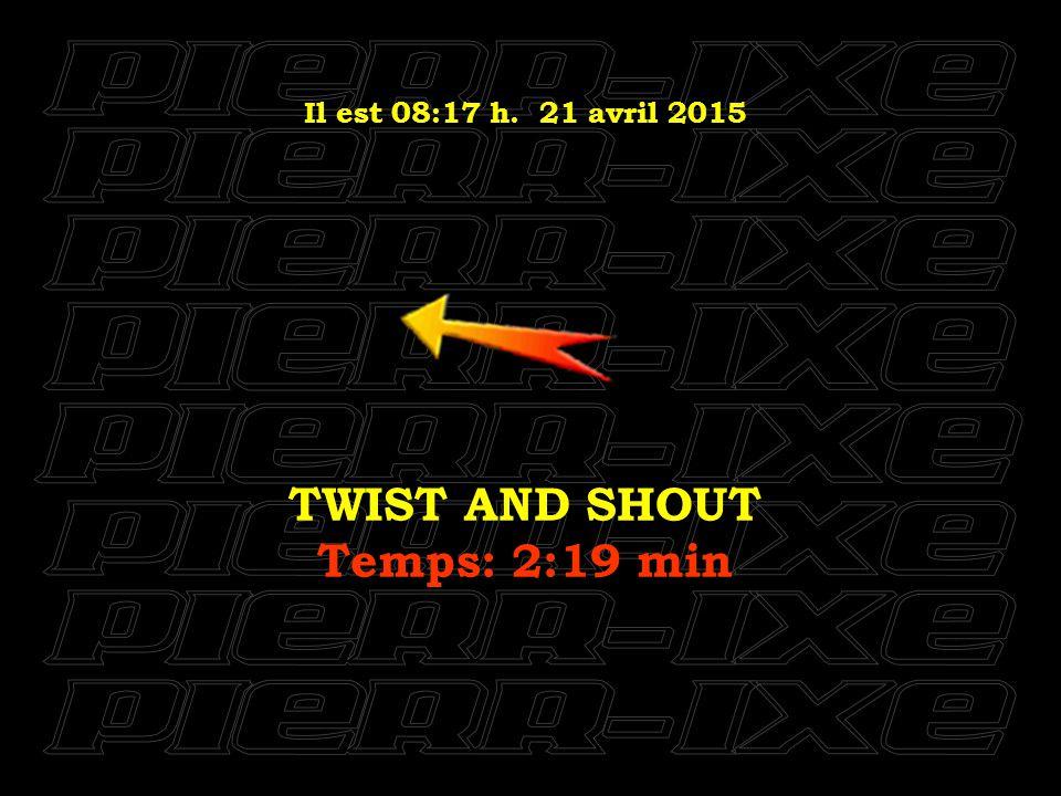 Il est 08:18 h. 21 avril 2015 I FEEL FINE Temps: 2:19 min