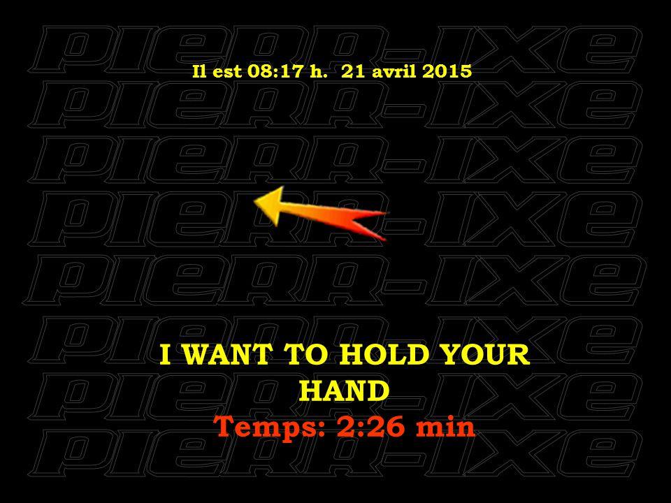 Il est 08:18 h. 21 avril 2015 TICKET TO RIDE Temps: 2:18 min