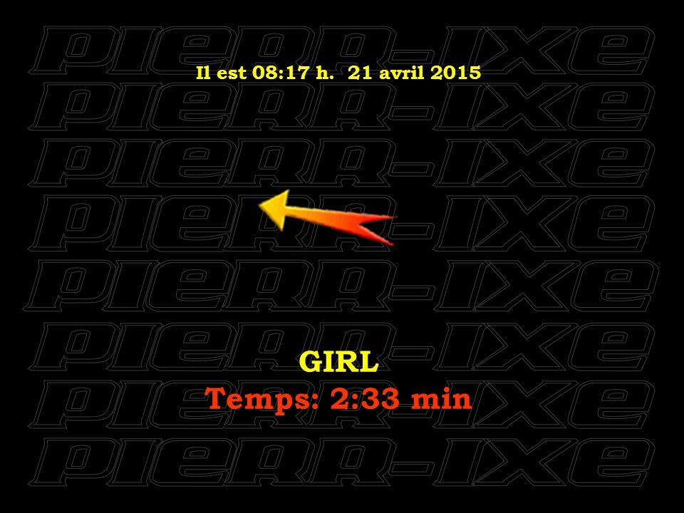Il est 08:18 h. 21 avril 2015 HELLO GOODBYE Temps: 3:26 min