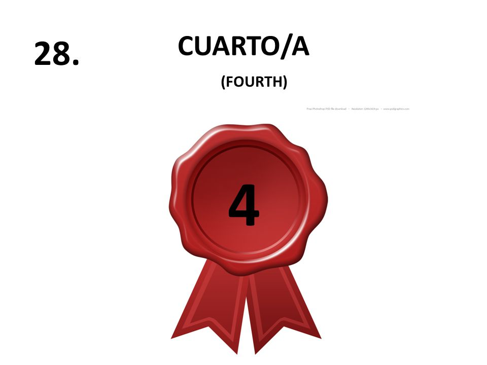 CUARTO/A 28. (FOURTH) 4