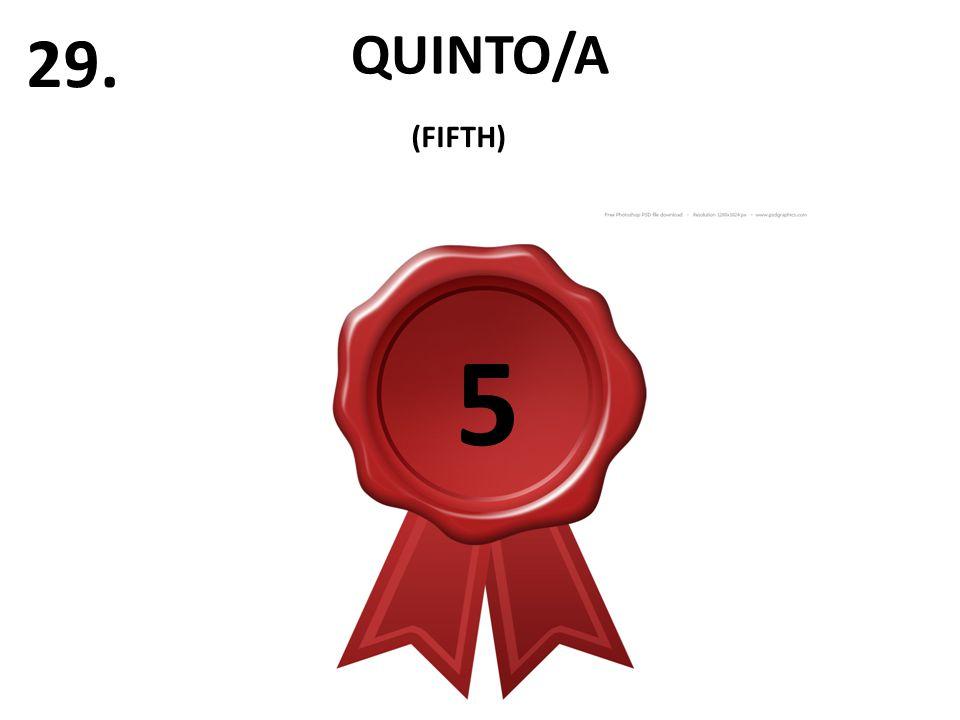 QUINTO/A 29. (FIFTH) 5