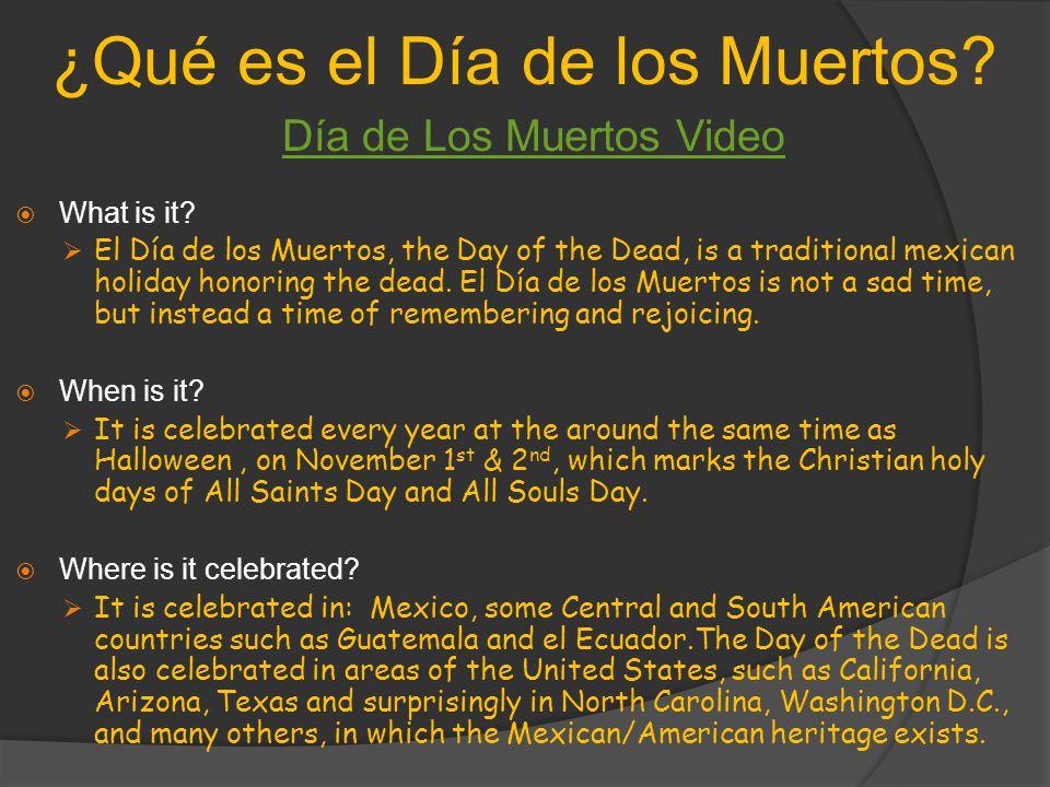 ¿Qué es el Día de los Muertos. What is it.