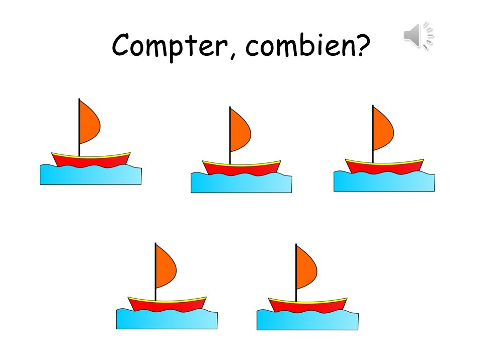 Compter, combien means count, how many.