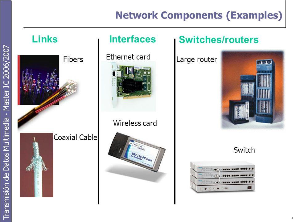 Transmisión de Datos Multimedia - Master IC 2006/2007 5 Juniper Routers