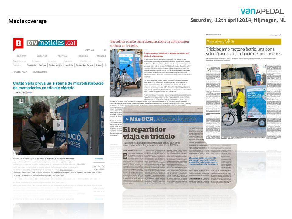 Saturday, 12th april 2014, Nijmegen, NL Media coverage