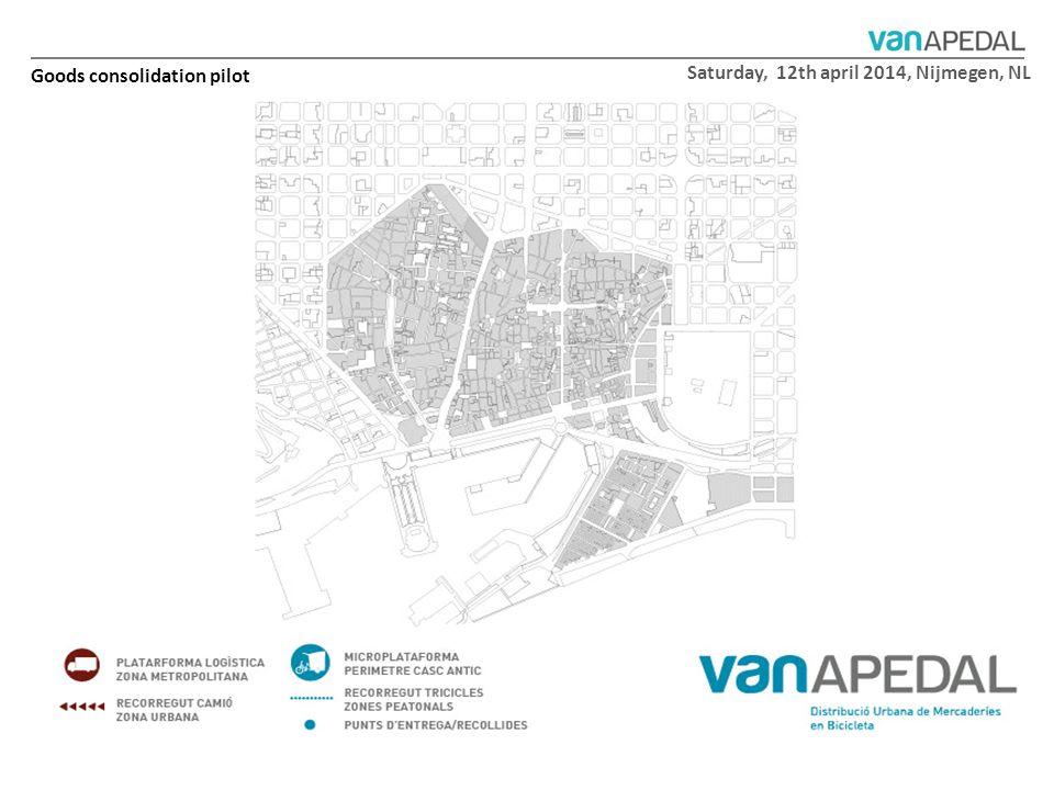 Saturday, 12th april 2014, Nijmegen, NL Goods consolidation pilot