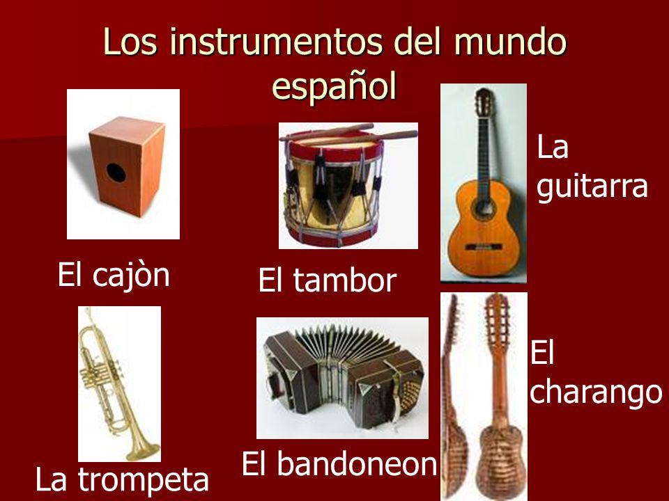 Completan el parte inglès de Instrumento: del mundo español.