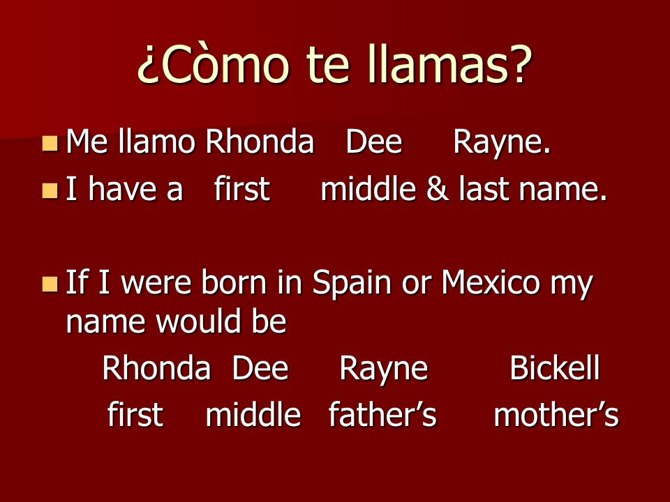 At the end of the lesson you will be able to… Identify the naming traditions of some Spanish speaking countries.