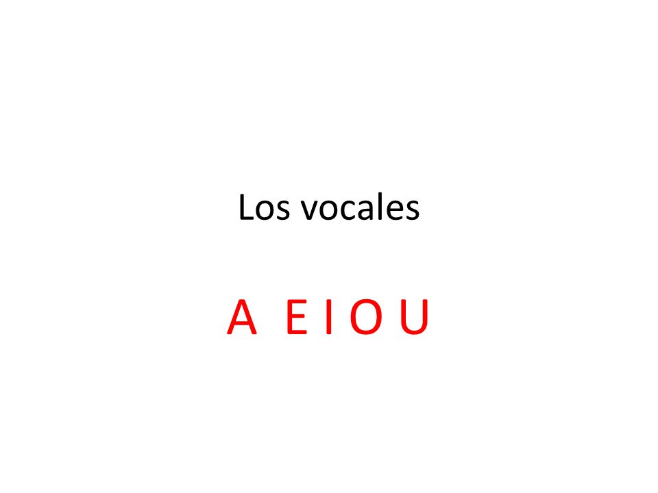 Los vocales A E I O U