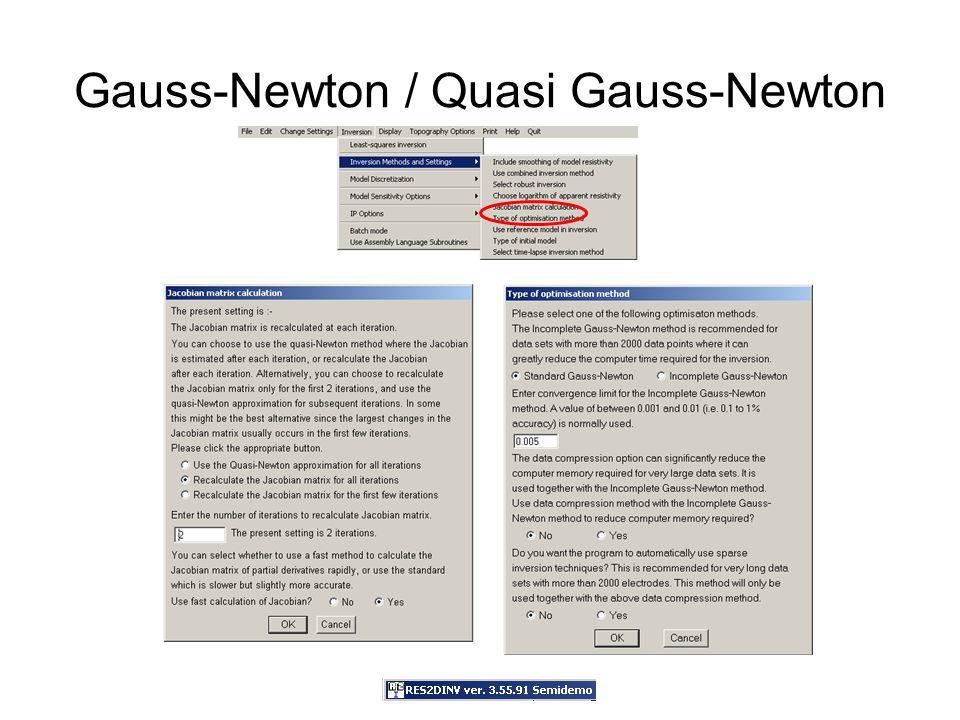 Gauss-Newton / Quasi Gauss-Newton