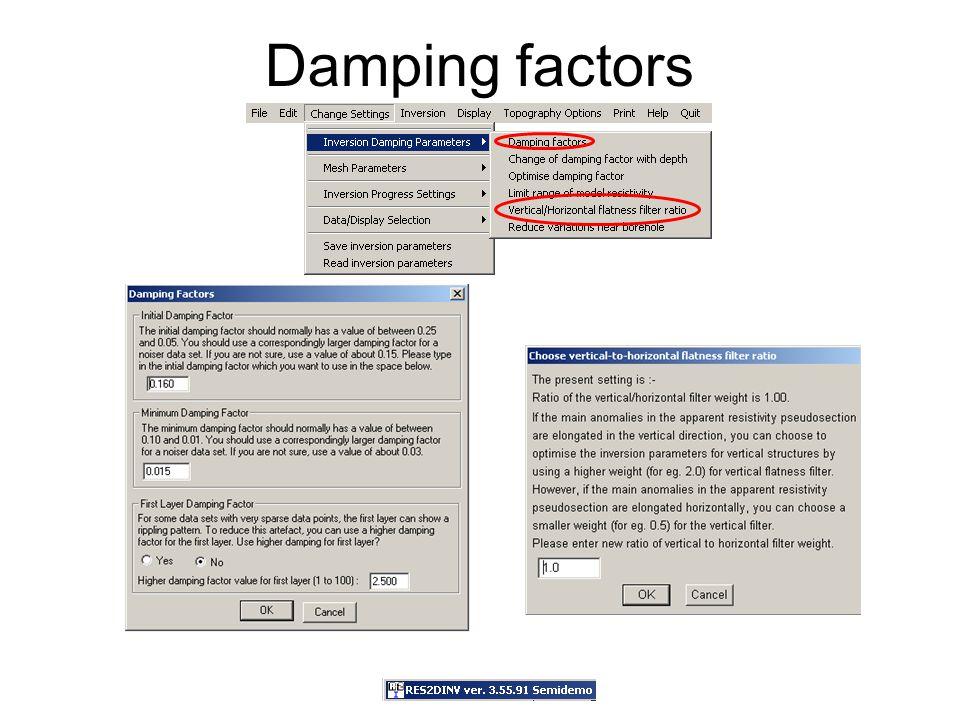 Damping factors