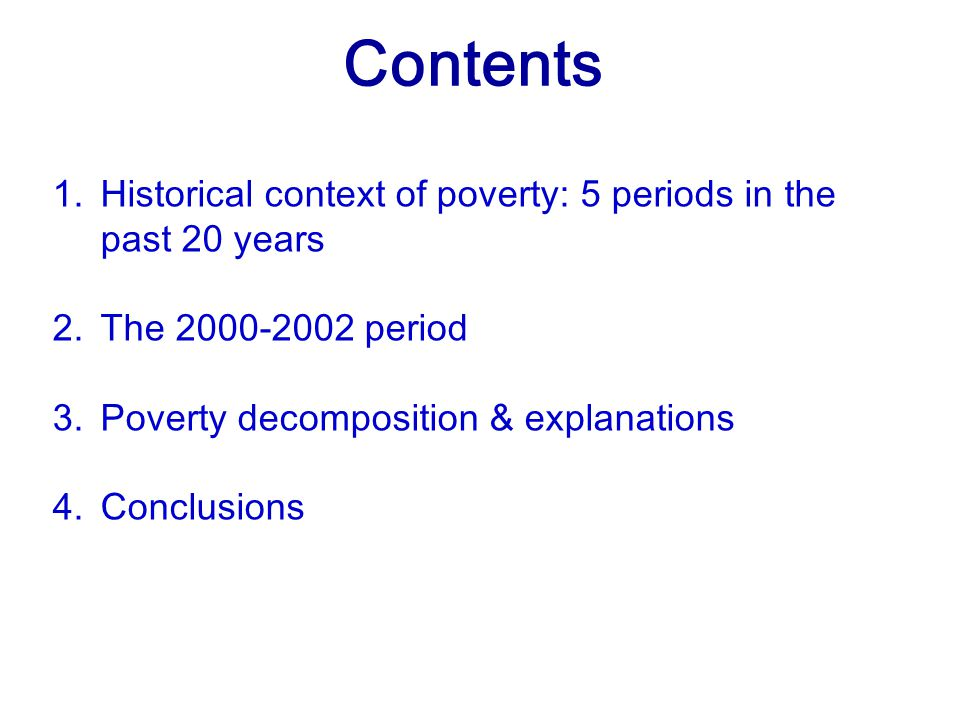 3. Poverty decomposition and explanations