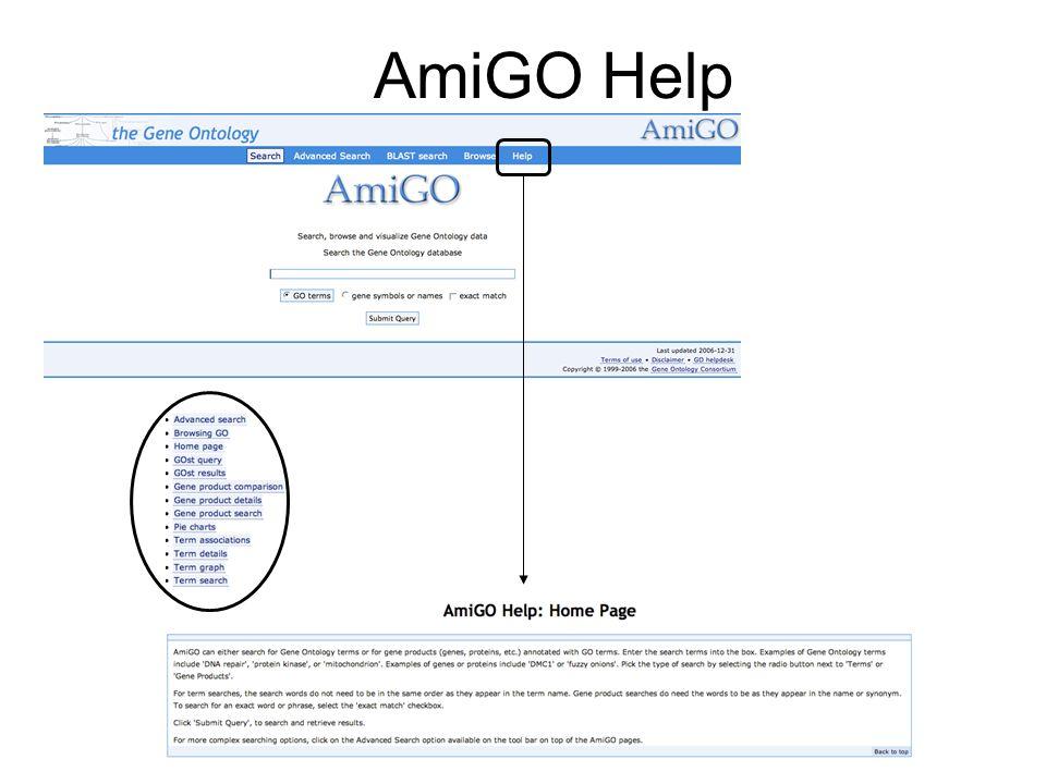 AmiGO Help
