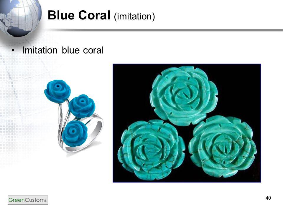 40 Blue Coral (imitation) Imitation blue coral