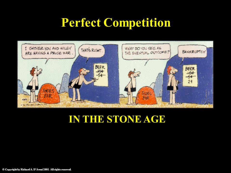 © Copyright by Richard A. D'Aveni 2005. All rights reserved. IN THE STONE AGE Perfect Competition