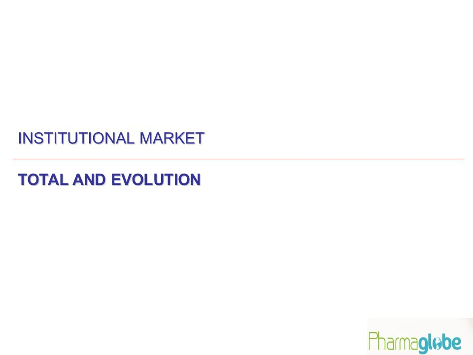 INSTITUTIONAL MARKET TOTAL AND EVOLUTION