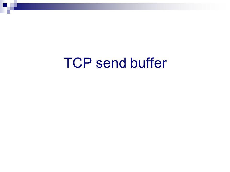 TCP send buffer