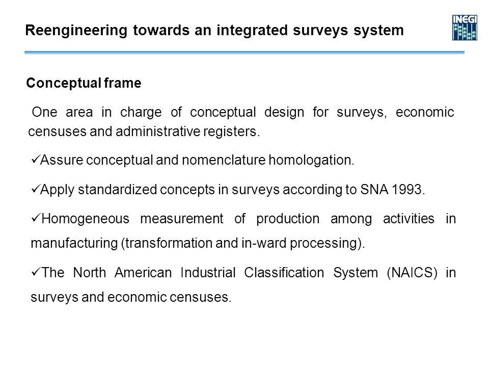 Assure conceptual and nomenclature homologation.