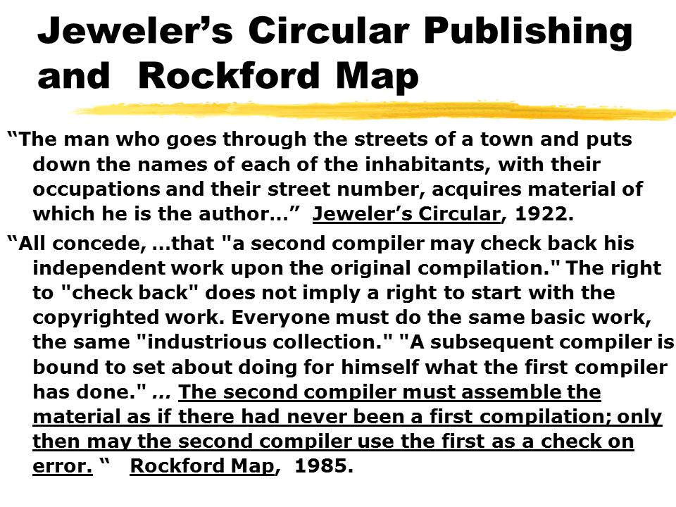 Jeweler's Circular Publishing and Rockford Map The man who goes through the streets of a town and puts down the names of each of the inhabitants, with their occupations and their street number, acquires material of which he is the author… Jeweler's Circular, 1922.