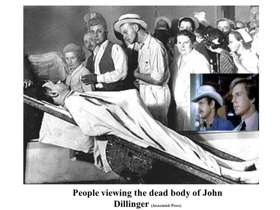 People viewing the dead body of John Dillinger (Associated Press)