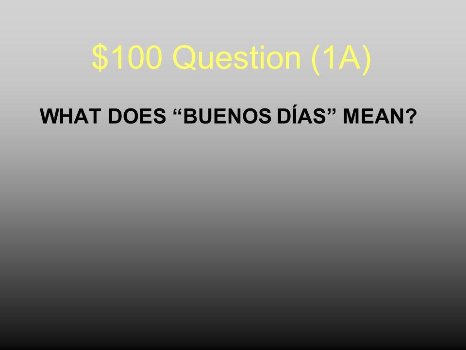 Jeopardy Preguntas y Respuestas TiempoConversacionesCulturaMapas Classroom Expressions 100 200 300 400 500 100 200 300 400 500 100 200 300 400 500 100 200 300 400 500 100 200 300 400 500 100 200 300 400 500 Final Jeopardy