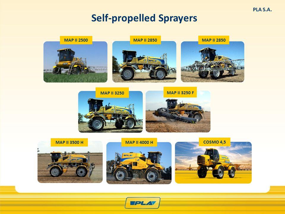 Self-propelled Sprayers MAP II 2500 MAP II 2850 MAP II 3250 MAP II 3250 F MAP II 3500 H COSMO 4,5 MAP II 4000 H PLA S.A.