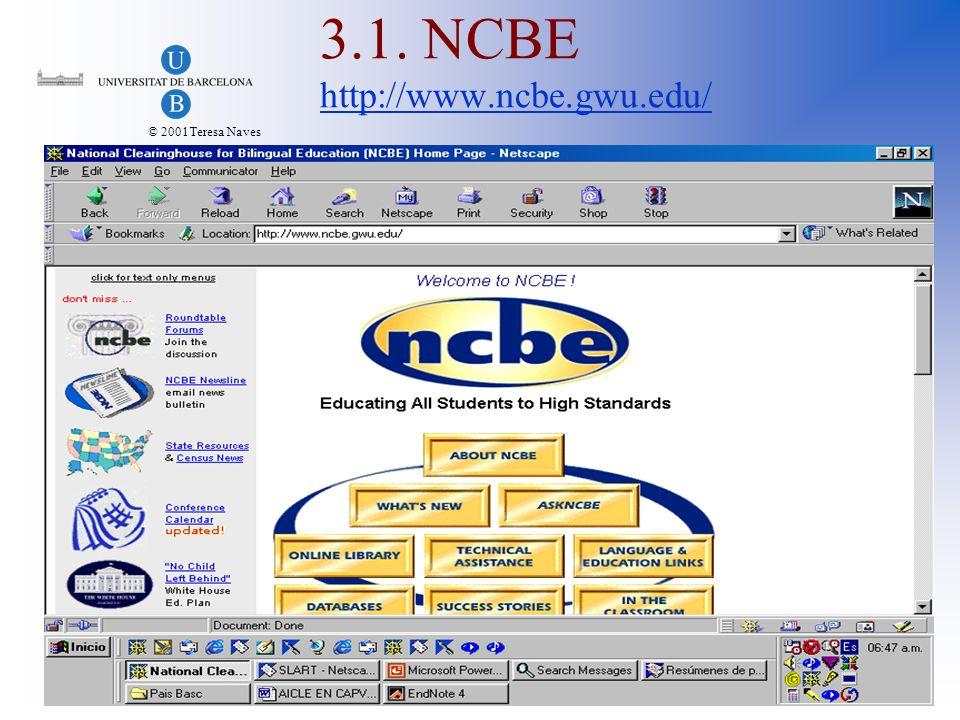 © 2001Teresa Naves 3.1. NCBE http://www.ncbe.gwu.edu/ http://www.ncbe.gwu.edu/