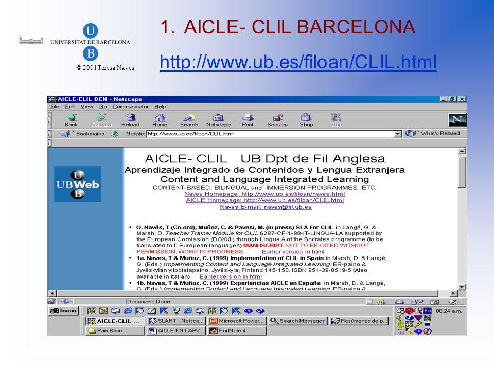 © 2001Teresa Naves 3.2. ERIC http://www.cal.org/ericcll/ http://www.cal.org/ericcll/