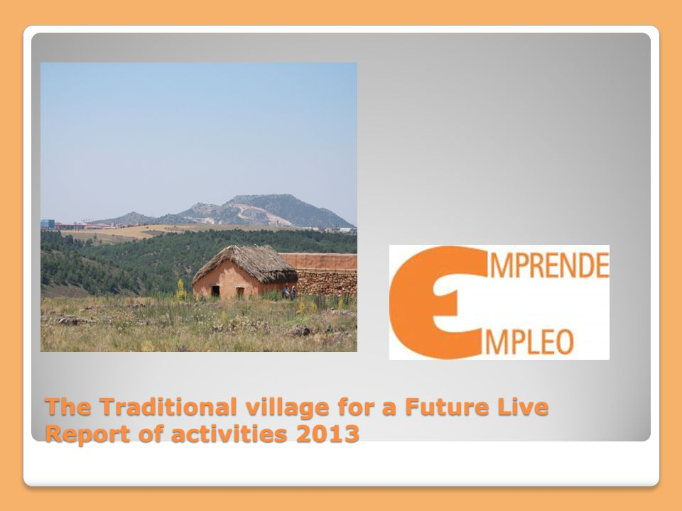 The Traditional village for a Future Live Report of activities 2013