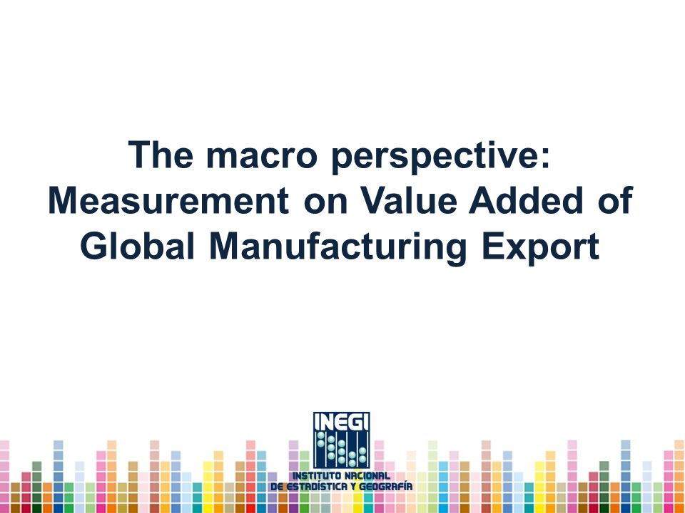 The macro perspective: Measurement on Value Added of Global Manufacturing Export